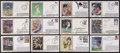 Baseball Collectibles:Others, Baseball Greats Signed First Day Covers Lot of 20....