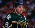 Hockey Cards:Lots, Mike Modano Signed Oversized Photograph...