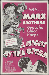 "A Night at the Opera (MGM, R-1962). One Sheet (27"" X 41""). Comedy"