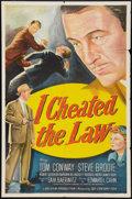 """Movie Posters:Crime, I Cheated the Law (20th Century Fox, 1949). One Sheet (27"""" X 41""""). Crime.. ..."""