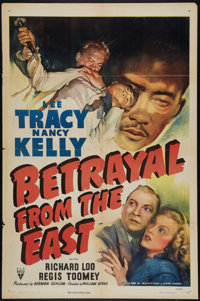 """Betrayal from the East (RKO, 1944). One Sheet (27"""" X 41""""). Adventure"""