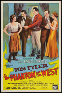 """The Phantom of the West (Mascot, 1931). One Sheet (27"""" X 41""""). Chapter 5 -- """"The League of the Lawless.&q..."""