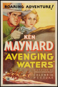 "Movie Posters:Western, Avenging Waters (Columbia, 1936). One Sheet (27"" X 41""). Western....."