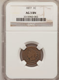 1877 1C AG3 BN NGC. NGC Census: (444/2922). PCGS Population (253/2753). Mintage: 852,500. (#2127)...(PCGS# 2127)