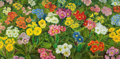 American:Still Life, The Collection of Paul Gregory and Janet Gaynor. JANETGAYNOR (American, 1906-1984) . Primroses, 1967-68. Oil onc...