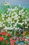 American:Modern, The Collection of Paul Gregory and Janet Gaynor. JANETGAYNOR (American, 1906-1984) . Garden View of WhiteOleander,...