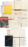 Football Collectibles:Publications, Vintage Football Signed Hardcover Books Lot of 15 - With Doak Walker High School Yearbook....