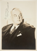 Movie/TV Memorabilia:Autographs and Signed Items, Sidney Greensteet Signed Photo....