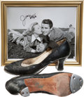 Movie/TV Memorabilia:Autographs and Signed Items, June Allyson's Tap Shoes with Signed Photo.... (Total: 3 )