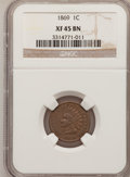 Indian Cents, 1869 1C XF45 BN NGC. NGC Census: (49/311). PCGS Population(69/294). Mintage: 6,420,000. Numismedia Wsl. Price for problem ...