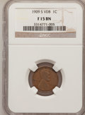 Lincoln Cents: , 1909-S VDB 1C Fine 15 NGC. NGC Census: (317/3027). PCGS Population (539/5917). Mintage: 484,000. Numismedia Wsl. Price for ...