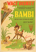 "Movie Posters:Animated, Bambi (RKO, 1942). Argentinean Poster (29"" X 43"").. ..."