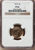 Proof Buffalo Nickels, 1915 5C PR65 NGC....