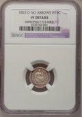 Seated Half Dimes, 1853-O H10C No Arrows--Improperly Cleaned--NGC Details. VF....