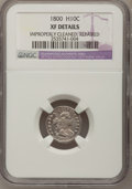 Early Half Dimes, 1800 H10C --Improperly Cleaned, Repaired--NGC Details. XF. V-1,LM-1, R.3....