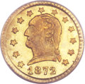 California Fractional Gold, 1872 25C Washington Round 25 Cents, BG-818, Low R.4, MS65 PCGS....