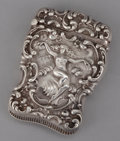 Silver Smalls:Match Safes, AN AMERICAN SILVER REPOUSSÉ MATCH SAFE . Unger Bros., Newark, NewJersey, circa 1900 . Marks: (intertwined UB),STERLI...