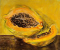 Fine Art - Painting, American:Contemporary   (1950 to present)  , The Collection of Paul Gregory and Janet Gaynor. JANETGAYNOR (American, 1906-1984) . Papaya. Oil on canvas. 16 x...