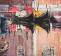 Fine Art - Painting, American:Contemporary   (1950 to present)  , THE COLLECTION OF PAUL GREGORY AND JANET GAYNOR. JACK BAKER(American, b. 1925). Gondolas, circa 1986. Oil on canv...
