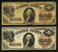 Large Size:Legal Tender Notes, $1 1880 Legals with Large Brown Treasury Seals.. ... (Total: 2 notes)
