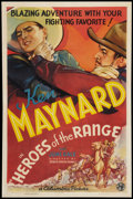 "Movie Posters:Western, Heroes of the Range (Columbia, 1936). One Sheet (27"" X 41""). Western.. ..."
