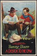 "Movie Posters:Western, A Debtor to the Law (Pan American, 1919). One Sheet (26.5"" X 41"").Western.. ..."