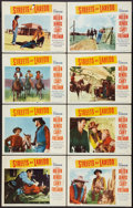 """Movie Posters:Western, Streets of Laredo (Paramount, R-1956). Lobby Card Set of 8 (11"""" X14""""). Western.. ... (Total: 8 Items)"""