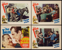 "Terror of the Plains (William Steiner, 1934). Title Lobby Card and Lobby Cards (3) (11"" X 14""). Western. ... (..."