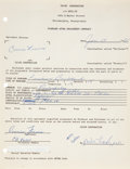 Music Memorabilia:Autographs and Signed Items, Connie Francis Signed Contract....
