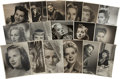 Movie/TV Memorabilia:Photos, Assorted Vintage Actress Photo Portraits from the 1940s-'50s... (Total: 27 )