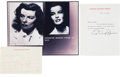 Movie/TV Memorabilia:Autographs and Signed Items, Katharine Hepburn Handwritten Letters plus a Strand of Her Hair....(Total: 12 )