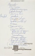 Music Memorabilia:Autographs and Signed Items, Tom Waits Handwritten Set List (ca. 1977-78)....