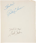 Music Memorabilia:Autographs and Signed Items, Patsy Cline and Dick Clark Autographs....