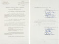 Music Memorabilia:Autographs and Signed Items, The Beach Boys Band-Signed Contract....