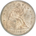 Seated Dollars, 1844 $1 MS62 PCGS. CAC....