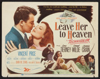 """Leave Her to Heaven (20th Century Fox, 1945). Title Lobby Card (11"""" X 14""""). Film Noir"""