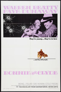 "Bonnie and Clyde (Warner Brothers-Seven Arts, 1967). One Sheet (27"" X 41""). Crime"