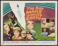"Movie Posters:Science Fiction, The Day Mars Invaded Earth (20th Century Fox, 1963). Half Sheet (22"" X 28""). Science Fiction.. ..."