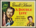 "Movie Posters:Film Noir, A Double Life (Universal International, 1947). Half Sheet (22"" X28""). Film Noir.. ..."