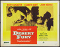 "Movie Posters:Film Noir, Desert Fury (Paramount, R-1958). Half Sheet (22"" X 28""). FilmNoir.. ..."