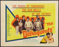 "The Delinquents (United Artists, 1957). Half Sheet (22"" X 28""). Exploitation"