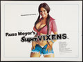 "Movie Posters:Adult, Supervixens (RM Films, 1975). British Quad (30"" X 40""). Adult.. ..."