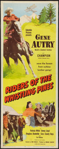 """Movie Posters:Western, Riders of the Whistling Pines (Columbia, 1949). Insert (14"""" X 36"""").Western.. ..."""