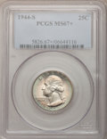 Washington Quarters, 1944-S 25C MS67+ PCGS....