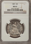 Seated Half Dollars, 1889 50C MS63 NGC....