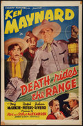 "Movie Posters:Western, Death Rides the Range (Colony Pictures, 1939). One Sheet (27"" X41""). Western.. ..."