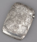 Silver Smalls:Match Safes, AN AMERICAN SILVER MATCH SAFE . Reed & Barton, Taunton,Massachusetts, circa 1890. Marks: (eagle-R-lion), STERLING .2-3...