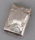 Silver Smalls:Match Safes, A CONTINENTAL SILVER MATCH SAFE . Maker unidentified, circa 1870.Marks: 800, (horse with wings), (weevil), (weevil). 1-...