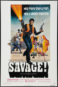 "Savage! (New World, 1973). One Sheet (27"" X 41""). Blaxploitation"