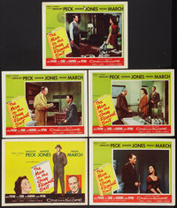 "The Man in the Gray Flannel Suit (20th Century Fox, 1956). Title Lobby Card & Lobby Cards (4) (11"" X 14&quo..."